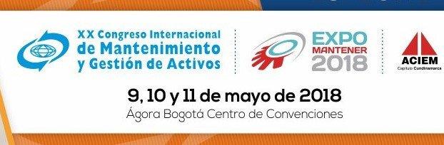 Del 09 al 11 de mayo – Congreso Internacional de Mantenimiento y Gestión de Activos 2018 enBogotá