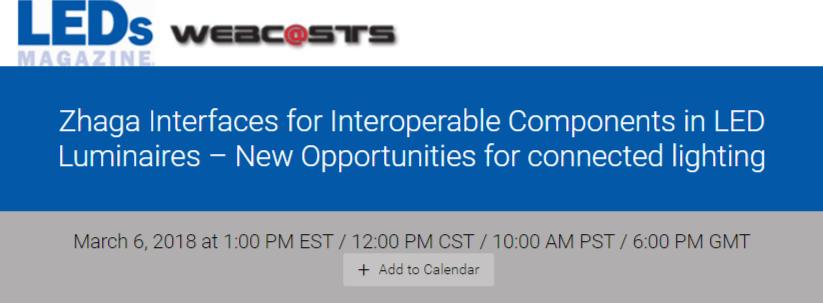 Webinar: New Opportunities for connectedlighting