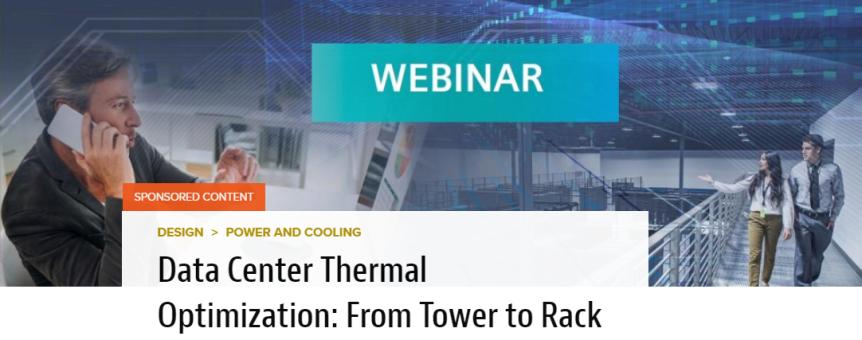 Webinar: Data Center Thermal Optimization – From Tower toRack