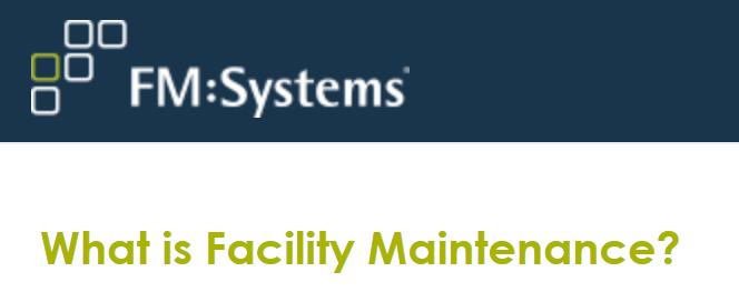 Webinar: What is FacilityMaintenance?