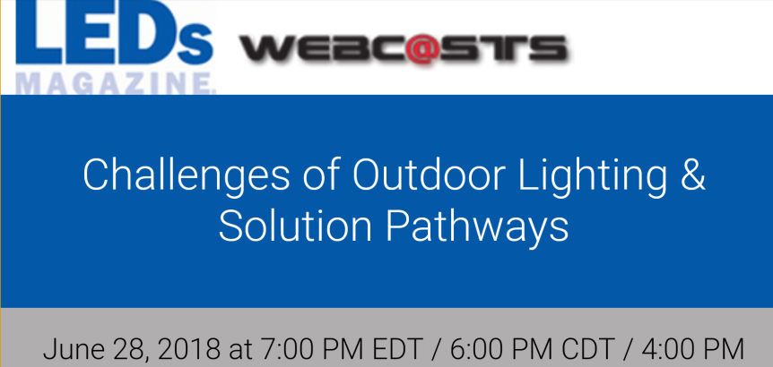Webinar: Challenges of Outdoor Lighting & SolutionPathways