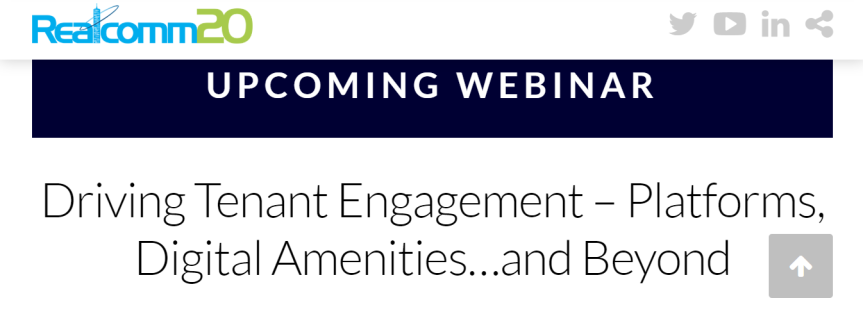 Webinar: Driving Tenant Engagement – Platforms, Digital Amenities…andBeyond