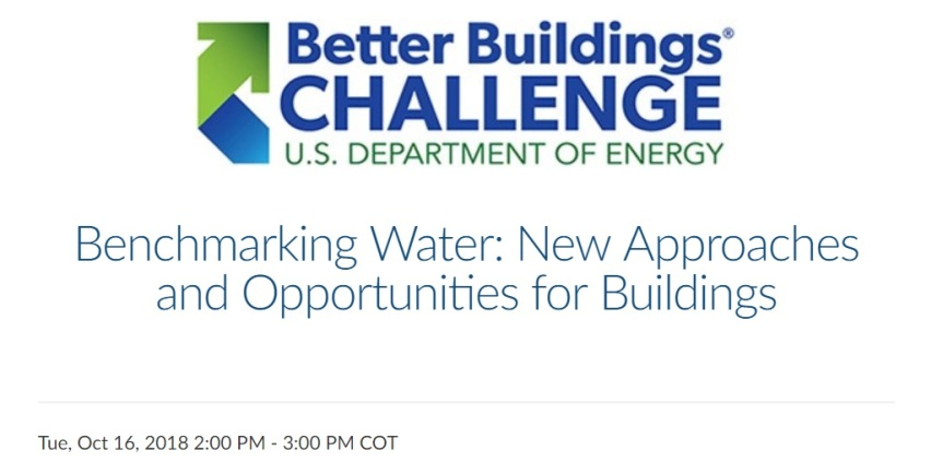 Webinar: Benchmarking Water – New Approaches and Opportunities forBuildings