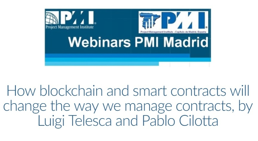 Webinar: La Gestión de Contratos y Blockchain. How blockchain and smart contracts will change the way we managecontracts