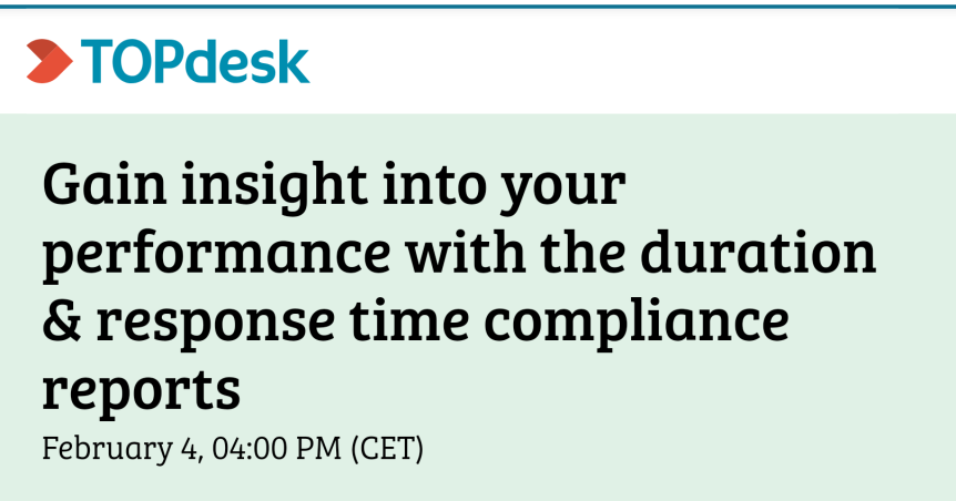 Webinar: Gain insight into your performance with duration and response time compliancereports