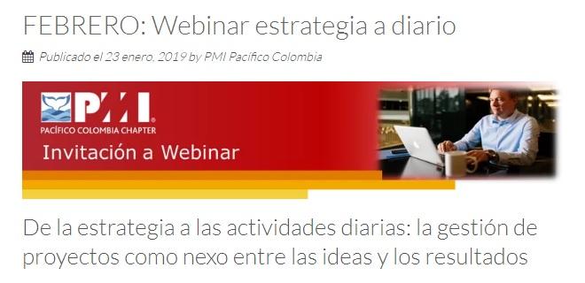 Webinar: De la estrategia a las actividadesdiarias