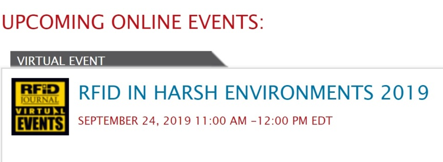 Event: RFID in Harsh Environments2019