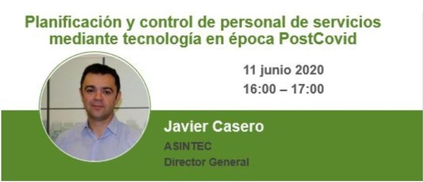 Webinar: Planificación y control de personal de servicios mediante  tecnología en épocaPostCovid