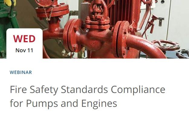 Webinar: Cumplimiento de estándares de seguridad contraincendio para bombas ymotores