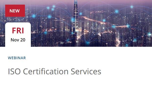 Webinar: UL – Servicios de CertificaciónISO