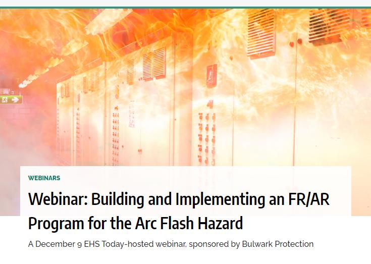 Webinar:  Creación e implementación de un programa FR/AR ante el peligro de ArcoEléctrico