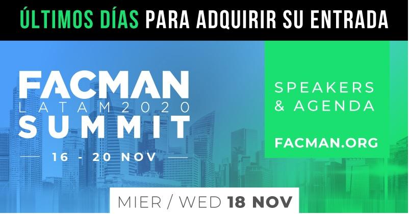 Evento: FACMAN 2020 – Sigue disfrutando del contenido este Miércoles18