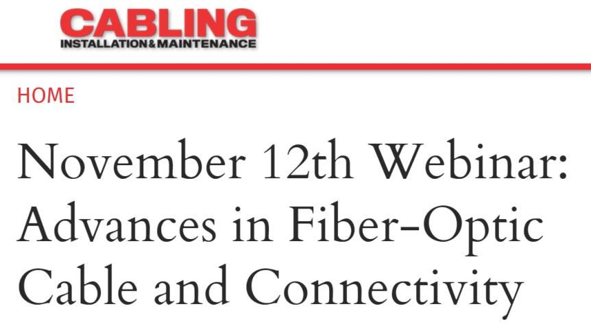 Webinar: Avances en conectividad y cables de fibraóptica