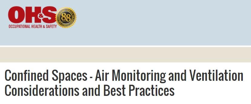 Webinar: Espacios confinados – Consideraciones y mejores prácticas de ventilación y control delaire