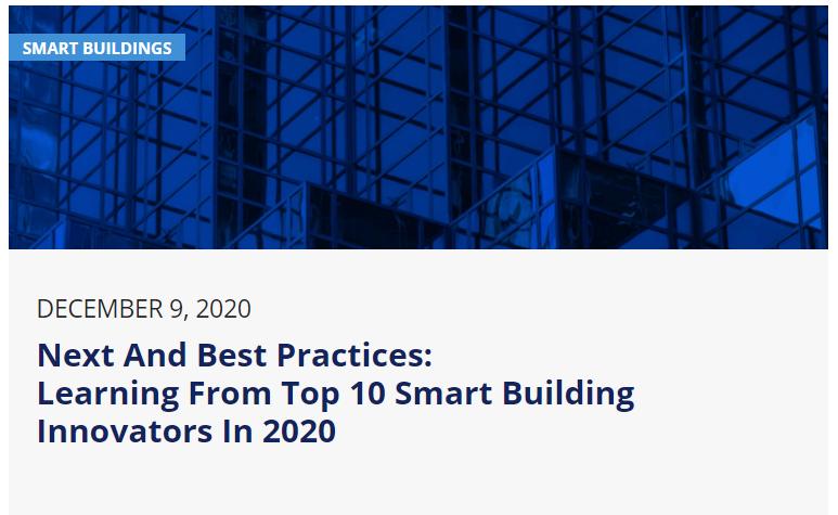 Webinar: Next and Best Practices – Aprendiendo de los 10 principales edificios inteligentes innovadores del2020